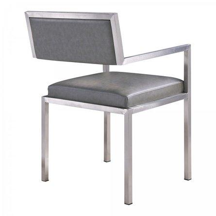 Alsciaukat Contemporary Dining Chair Gray(Set of 2)