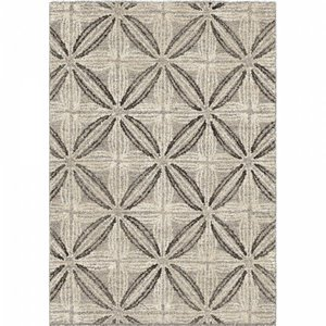 Daisy Contemporary (8'X10') Area Rug In Gray/Cream