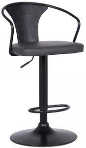 Eagle Contemporary Adjustable Barstool Black And Gray