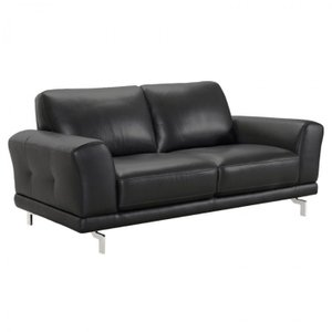 Indus Contemporary Loveseat Black