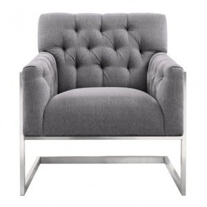 Nile Contemporary Accent Chair Gray