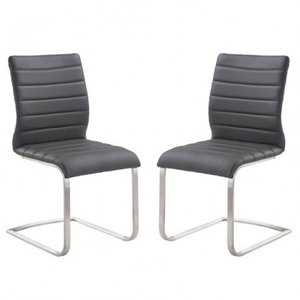 Amur Contemporary Side Chair Gray (Set of 2)