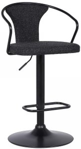 Ian Contemporary Adjustable Barstool Black