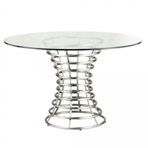 Parana Brushed Stainless Steel Dining Table