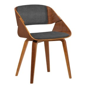 Lena Mid-Century Dining Chair Dark Gray