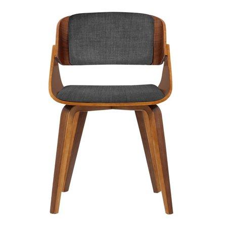 Lena Mid-Century Dining Chair Dark Gray