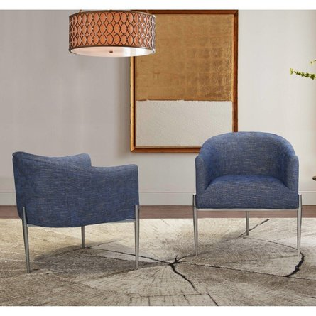 Ganges Contemporary Accent Chair Blue
