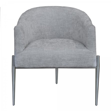 Ganges Contemporary Accent Chair Silver