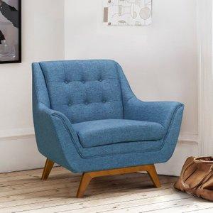 Niger Mid-Century Sofa Chair Blue