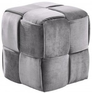 Loire Contemporary Short Ottoman Gray