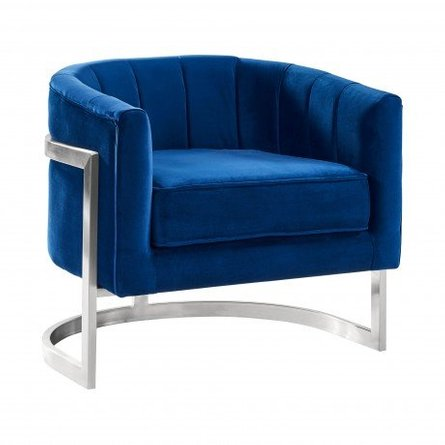 . Daintree Contemporary Accent Chair Blue