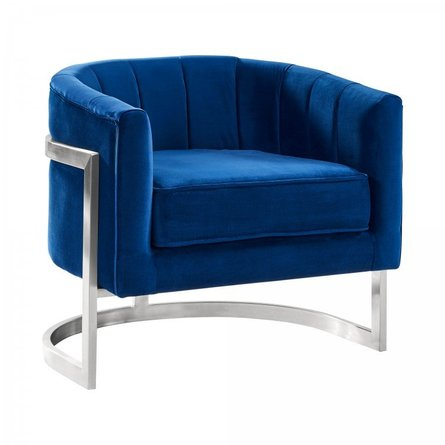 Daintree Contemporary Accent Chair Blue