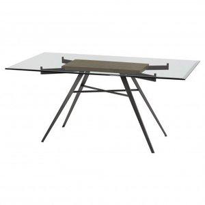Kartong Contemporary Rectangular Dining Table Glass