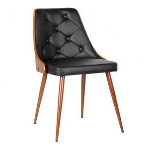 Aisne Mid-Century Dining Chair Black