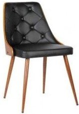 Aisne Mid-Century Dining Chair Black