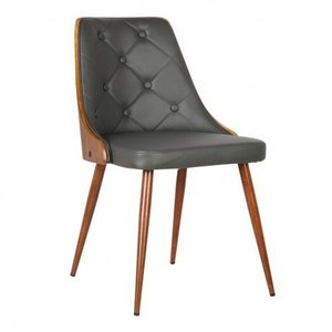 Aisne Mid-Century Dining Chair Gray