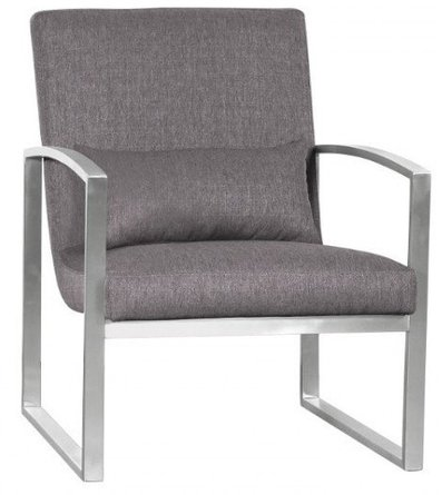 Canis Major Contemporary Accent Chair Gray