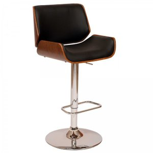 Arkab Posterior Swivel Barstool In Black
