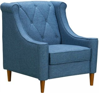Carina Mid-Century Sofa Chair Blue