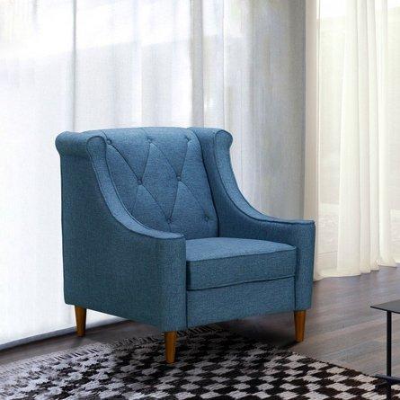 Carina Mid-Century Sofa Chair Blue
