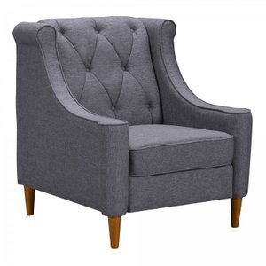 Cassiopeia Mid-Century Sofa Chair Gray