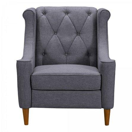 Cassiopeia Mid-Century Sofa Chair Gray