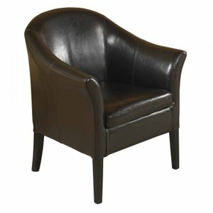 Coma Berenices Brown Leather Club Chair