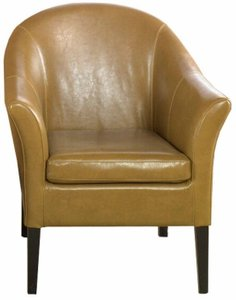 Coma Berenices Camel Leather Club Chair