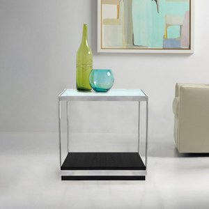 Corvus Contemporary End Table Glass