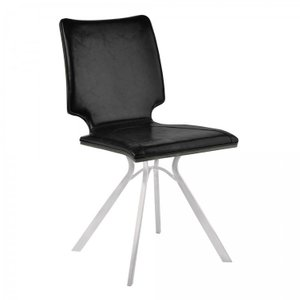 Crux Armless Contemporary Dining Chair Black