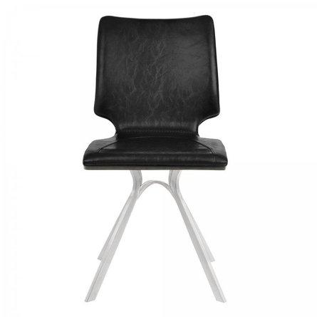 Crux Armless Contemporary Dining Chair Black