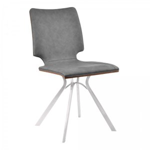 Crux Armless Contemporary Dining ChairGray