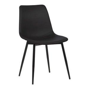 Draco Armless Contemporary Dining Chair Black