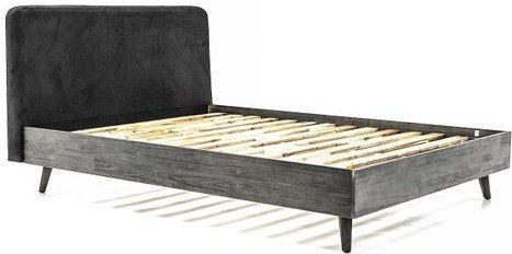 Mohave Acacia Platform Queen Bed Tundra Gray
