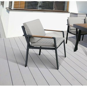 Lupus Patio Dining Chair Charcoal (Set Of 2)