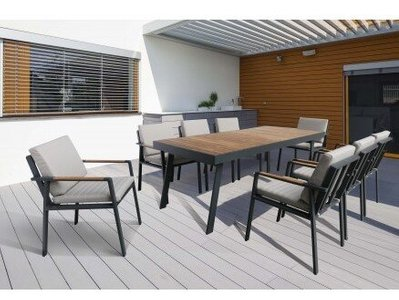 Lupus Patio Dining Table Charcoal