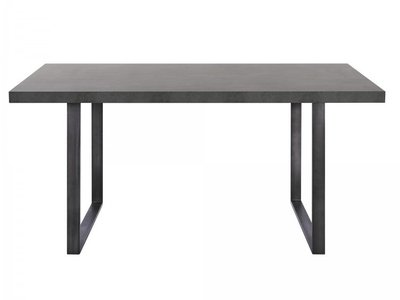 Newark Contemporary Dining Table Gray And Black