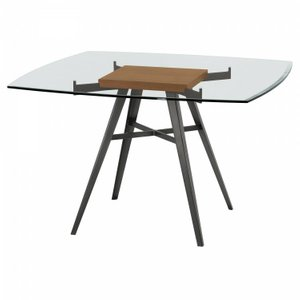 Monoceros Contemporary Dining Table Glass Natural