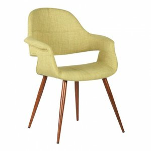 Puppis Mid-Century Dining Chair Green Walnut