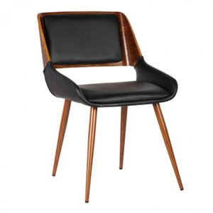 Don Mid-Century Dining Chair Black Walnut