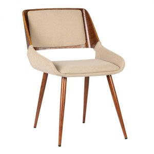 Emily Mid-Century Dining Chair Brown And Walnut