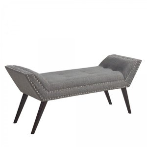 Franklin Ottoman Bench Charcoal