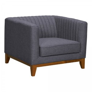 Lee Mid-Century Sofa Chair Dark Gray