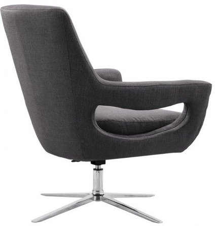 Tammy Contemporary Adjustable Swivel Accent Chair Gray