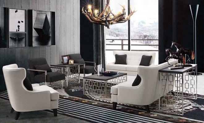 Nadine Skyline Chair In White