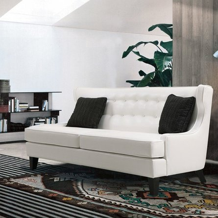 Oscar Skyline Sofa In White
