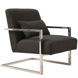 Patty Skyline Accent Chair Charcoal