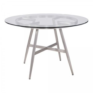 Barry Soleil Contemporary Dining Table Glass