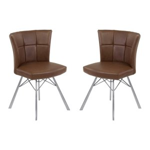 Humberto Contemporary Dining Chair Vintage Coffee