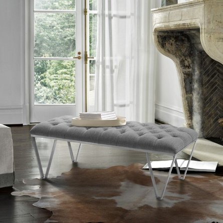 Jerry Contemporary Bench Gray